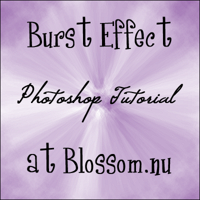 Burst Effect Photoshop Tutorial