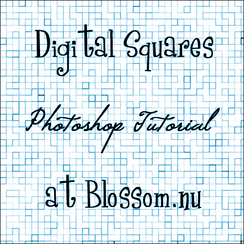 Digital Squares Photoshop Tutorial