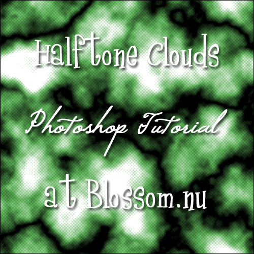 Halftone Clouds Photoshop Tutorial