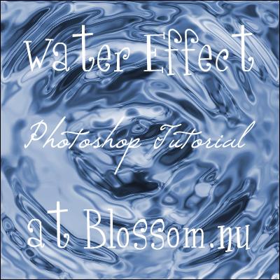 Water Effect Photoshop Tutorial
