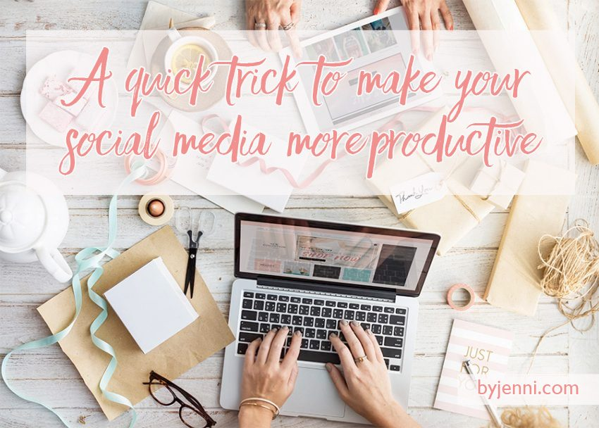 A quick trick to make your social media addiction more productive