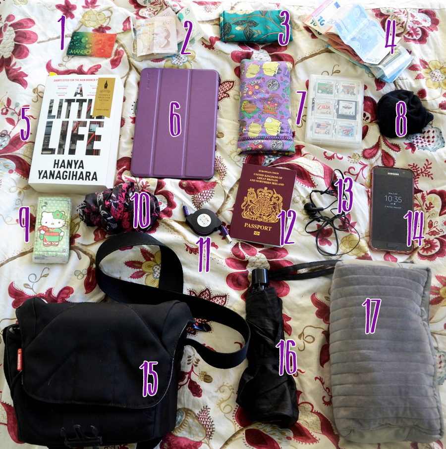 What I pack in my hand baggage