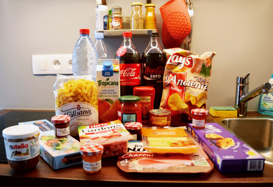 Self-catered apartment grocery shop