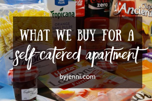 What we buy for a self-catered apartment