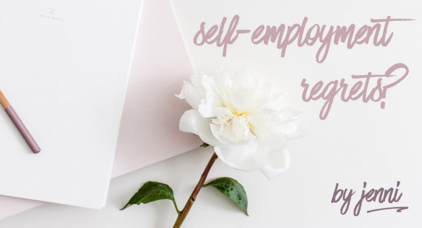 Self-employment, regrets edition